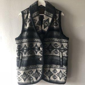 Woolrich Womens indian Blanket Sweater Sz M Gray